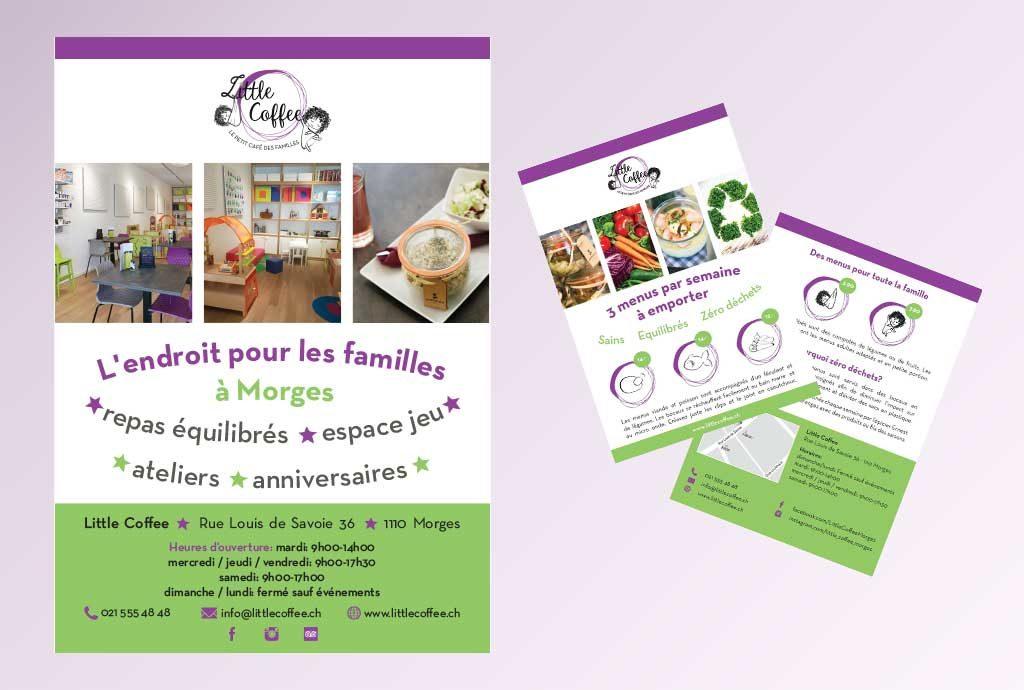 Affiche et flyers little coffee